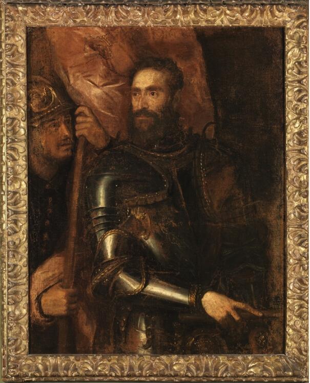 Restauro Ristratto di Pier Luigi Farnese Tecno